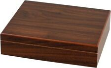 20 CIGAR WALNUT TRAVEL HUMIDOR w. HUMDIFIER * NEW * H 2.76 x W 10.24 x D 8.66""