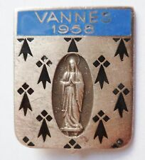 Insigne Religieux DIOCÈSE VANNES Bretagne 1956 ORIGINAL Catholic French Badge 4