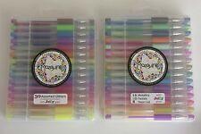 ☆Sale☆  60 Pack Coloured Gel Pens, Soft Grips, Neon, Pastel, Metallic & Glitter