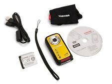 "Toshiba CAMILEO BW10 1080p Waterproof Camcorder HDMI out 2"" LCD Rechargeable"
