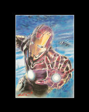 Ironman superhero pastel drawing from artist art Image picture