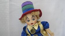 Musical Porcelain Clown Plays 6 Songs - Treasures in Lace used w/box