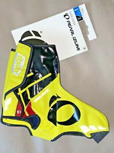 New PEARL iZUMI PRO Softshell WXB Shoe Covers Cycling ShoeCovers S Small Yellow