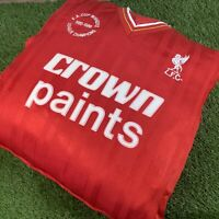 Unique Liverpool FC Cushion - Retro VTG Crown Paints Shirt - Man Cave Pub Bar