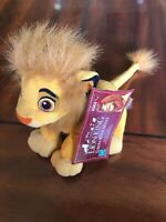"Disney Lion King Simba w/ Mane Plush Bean 5"" Hasbro Stuffed Animal"