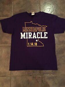 Minnesota Vikings Stefon Diggs inspired Minneapolis Miracle Shirt! Large Youth