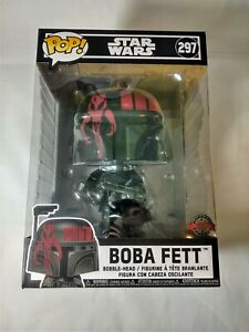 "Funko Pop! Star Wars Boba Fett #297 (Black) 10"" Inch Special Edition"