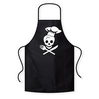 Chef Skull Totenkopf Fun BBQ Grillen Spaß Grillschürze Kochschürze Latzschürze