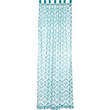 Karina Tab Top Panel Window Curtains Drapes Living Bed Room Green White 2 Sizes