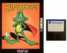 """SUPER FROG :  floppy disc 3,5"""" Commodore Amiga backup game disk (READ)"""