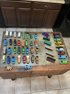 Vintage Mixed Wooden/Metal Lot Of 82 Thomas The Train & Friends Set Cars Engines
