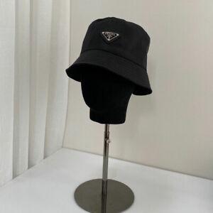 2021 Pra-da² Cap New Unisex Black Nylon Bucket Hat Hot Free Shipping