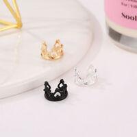 Fashion Crown Ear Wrap Earring Cuff Earrings Stud Clip On Punk Style Jewelry S