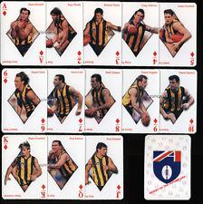 1998 Hawthorn HAWKS Football Club SET of 13 AFL Footy Stars Player Playing Cards