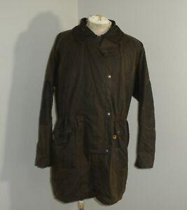 Mens Large KAKADU TRADERS Duster Riding OILSKIN Brown Jacket WAXED Cotton Coat