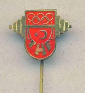 old TURKEY Olympic PIN Badge Weightlifting Team Turkiye NOC
