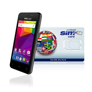 International Cell Phone 4G / LTE - Smartphone - Credit $20.00