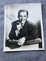 BING CROSBY -  ACTOR / SINGER  - AUTOGRAPHED Signed Photo 10x8 Authentic
