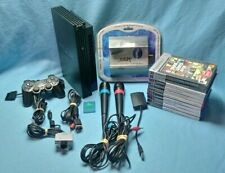 Playstation 2 PS2 fat console PAL Black SCPH 39004 10 games bundle set singstar