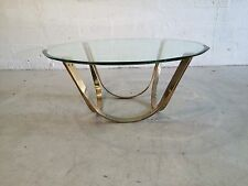 tri-mark coffee table with glass karl springer brueton pace dodecagon beveled
