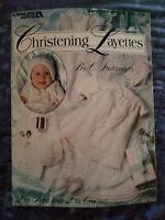 Christening Layettes to Knit & Crochet Leisure Arts Leaflet 2199 C. Strohmeyer