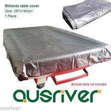 New 8ft Waterproof Dustproof Pool Billiard Table Cover Silver Elastic Corners