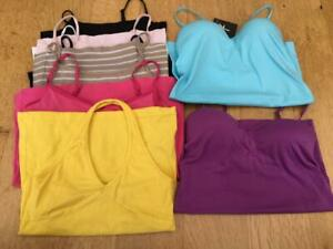 TEEN/WOMAN   MIXED CAMISOLE TOPS x 9     Size 6/8