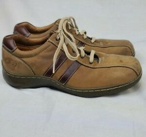 Skechers Brown Leather Men's Casual Oxford Shoes Size 8.5 SN 4400