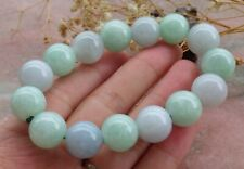 Certified Green Lavender Natural A JADE Jadeite Beads Bangle Bracelet 手链 447849