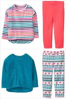 NWT Crazy 8 Striped Pullover Sweater & Pants Fleece Outfit Set 3T 4T 5T