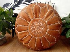 Boho Handmade Leather Moroccan Pouf Footstool Storage Ottoman Cushion Unstuffed