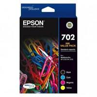Genuine Epson 702 Ink Value 4 Pack C13T344692 Workforce WF-3720 WF-3725 WF-3730