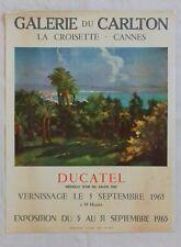 Ancienne affiche exposition artistique L. DUCATEL Galerie CARLTON à Cannes 1965