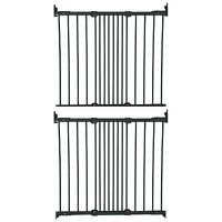 BabyDan FlexiFit Metal Adjustable 42 Inch Wall Mounted Baby Safety Gate (2 Pack)