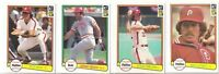 (4) 1982 DONRUSS HALL OF FAMERS (NM-NM/MT AND CENTERED) ROSE, BENCH,SCHMIDT