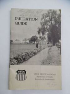 1947 Union Pacific Railroad Irrigation Guide Farming Ranching Catalog Vintage
