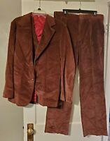 Vintage Men's Corduroy 3 Piece  Pants Vest Jacket JCPenney New-EUC