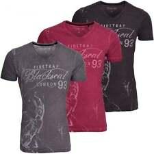 Firetrap Cotton V Neck T-Shirts for Men