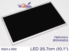 "25,7cm 10,1""  WSVGA TFT LED DISPLAY 1024x600 MATRIX OPTRONICS B101AW03 GLANZ"