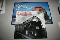 Classic Trains 2002 calendar, Classic Railroads 2006 calendar lot of 2, unused