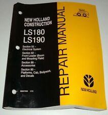 New Holland Ls180 Ls190 Skid Steer Loader Electricalloaderampcab Repair Manual Nh