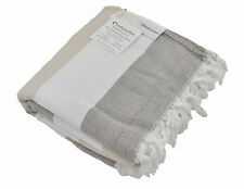 Soft Turkish Towel with Terry Cloth Back, Bath & Beach Peshtemal Towel Biege Tan