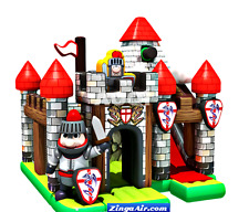 25x30x25 Commercial Inflatable Castle Fortress Bounce House Slide Knight Course