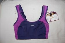 Shock Absorber Sports Bra with Maximum Support Navy & Purple Size UK 28H BNWT