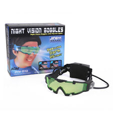 Adjustable Elastic Band Night Vision Goggles Glasses Eyeshield w/ Flip Out Light