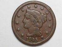 1845 US Braided Hair Large Cent.  #44