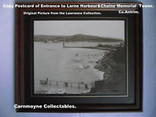 Copy Postcard of Entance to Larne Harbour & Chaine Memorial Tower.AH2161.