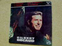 """Richard Anthony/Gilbert Becaud  7""""  French import EP'  EXCELLENT CONDITION"""