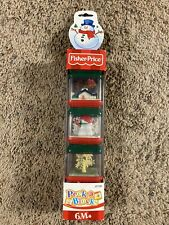 NEW Fisher Price Red Green Christmas Peek a Boo Blocks Lot of 3 Rare