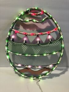 """(1) SET OF SIENNA LIGHTED EASTER EGG SILHOUETTE 16"""" (50) MINI LIGHTS IN/OUT DOOR"""